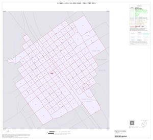 Primary view of object titled '2000 Census County Subdivison Block Map: Calvert CCD, Texas, Inset A01'.