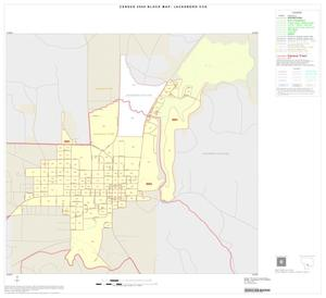 Primary view of object titled '2000 Census County Subdivison Block Map: Jacksboro CCD, Texas, Inset A01'.