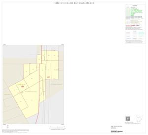 Primary view of object titled '2000 Census County Subdivison Block Map: Hillsboro CCD, Texas, Inset D01'.