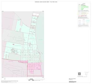 Primary view of object titled '2000 Census County Subdivison Block Map: Fulton CCD, Texas, Inset B01'.