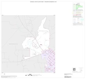Primary view of object titled '2000 Census County Subdivison Block Map: Fredericksburg CCD, Texas, Inset A01'.