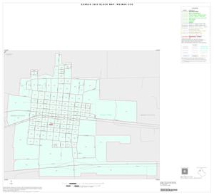 Primary view of object titled '2000 Census County Subdivison Block Map: Weimar CCD, Texas, Inset A01'.