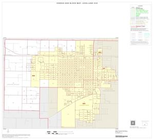 Primary view of object titled '2000 Census County Subdivison Block Map: Levelland CCD, Texas, Inset B01'.