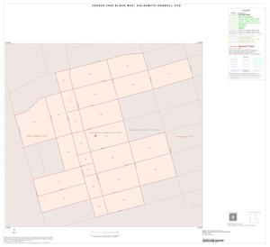 Primary view of object titled '2000 Census County Subdivison Block Map: Goldsmith-Penwell CCD, Texas, Inset C01'.