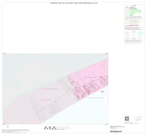 Primary view of object titled '2000 Census County Subdivison Block Map: Bolivar Peninsula CCD, Texas, Inset A01'.