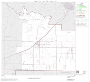 Primary view of object titled '2000 Census County Subdivison Block Map: Rowena CCD, Texas, Block 1'.