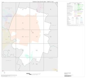 Primary view of object titled '2000 Census County Subdivison Block Map: Temple CCD, Texas, Index'.