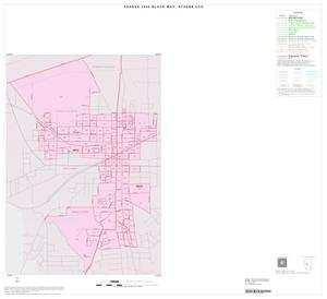 Primary view of object titled '2000 Census County Subdivison Block Map: Athens CCD, Texas, Inset A01'.