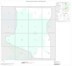 Primary view of object titled '2000 Census County Subdivison Block Map: San Angelo CCD, Texas, Index'.