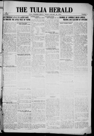 Primary view of object titled 'The Tulia Herald (Tulia, Tex), Vol. 15, No. 4, Ed. 1, Friday, January 25, 1924'.