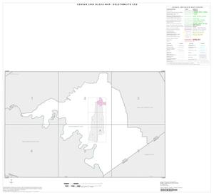 Primary view of object titled '2000 Census County Subdivison Block Map: Goldthwaite CCD, Texas, Index'.