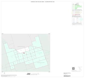 Primary view of object titled '2000 Census County Subdivison Block Map: Jourdanton CCD, Texas, Inset B01'.