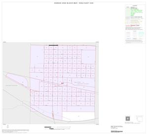 Primary view of object titled '2000 Census County Subdivison Block Map: Vega East CCD, Texas, Inset B01'.