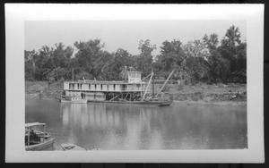 Primary view of object titled '[Boats Near the Banks of a River]'.