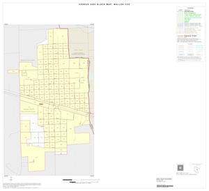 Primary view of object titled '2000 Census County Subdivison Block Map: Waller CCD, Texas, Inset A01'.