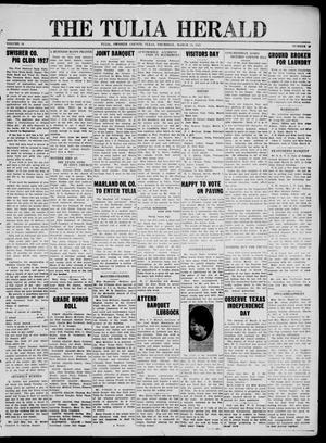 Primary view of object titled 'The Tulia Herald (Tulia, Tex), Vol. 18, No. 10, Ed. 1, Thursday, March 10, 1927'.