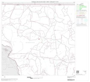Primary view of object titled '2000 Census County Subdivison Block Map: West Crockett CCD, Texas, Block 3'.