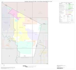 Primary view of object titled '2000 Census County Subdivison Block Map: Stafford-Missouri City CCD, Texas, Index'.