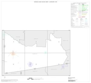 Primary view of object titled '2000 Census County Subdivison Block Map: Leonard CCD, Texas, Index'.