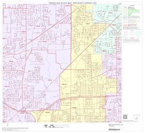 Primary view of object titled '2000 Census County Subdivison Block Map: Northeast Tarrant CCD, Texas, Block 13'.