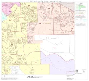 Primary view of object titled '2000 Census County Subdivison Block Map: Stafford-Missouri City CCD, Texas, Block 4'.