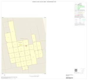 Primary view of object titled '2000 Census County Subdivison Block Map: Henderson CCD, Texas, Inset A01'.