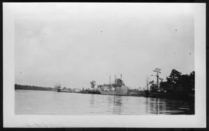 Primary view of object titled '[Boats Close to a Dock. Location Unknown.]'.