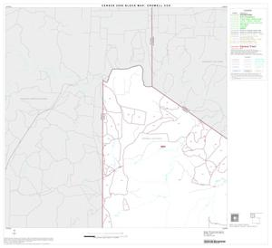 Primary view of object titled '2000 Census County Subdivison Block Map: Crowell CCD, Texas, Block 1'.