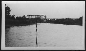 Primary view of object titled '[A Bridge on a Texas River. Location Unknown.]'.