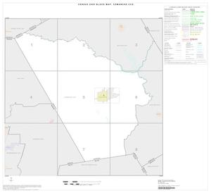 Primary view of object titled '2000 Census County Subdivison Block Map: Comanche CCD, Texas, Index'.