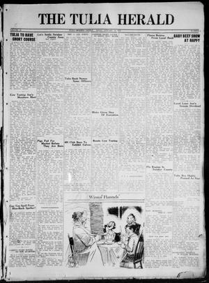 Primary view of object titled 'The Tulia Herald (Tulia, Tex), Vol. 20, No. 2, Ed. 1, Thursday, January 10, 1929'.