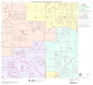 Primary view of object titled '2000 Census County Subdivison Block Map: Northeast Tarrant CCD, Texas, Block 8'.