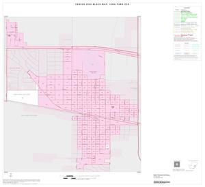 Primary view of object titled '2000 Census County Subdivison Block Map: Iowa Park CCD, Texas, Inset A01'.