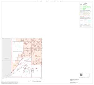 Primary view of object titled '2000 Census County Subdivison Block Map: Hereford East CCD, Texas, Inset B03'.