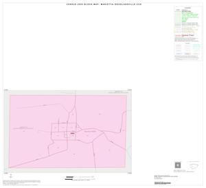 Primary view of object titled '2000 Census County Subdivison Block Map: Marietta-Douglassville CCD, Texas, Inset A01'.