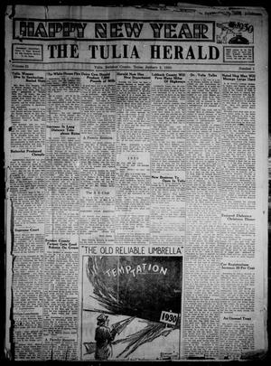Primary view of object titled 'The Tulia Herald (Tulia, Tex), Vol. 21, No. 1, Ed. 1, Thursday, January 2, 1930'.