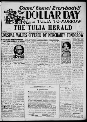 Primary view of object titled 'The Tulia Herald (Tulia, Tex), Vol. 22, No. 47, Ed. 1, Thursday, November 19, 1931'.