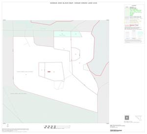 Primary view of object titled '2000 Census County Subdivison Block Map: Cedar Creek Lake CCD, Texas, Inset A01'.