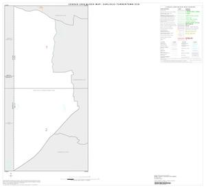 Primary view of object titled '2000 Census County Subdivison Block Map: Carlisle-Turnertown CCD, Texas, Index'.