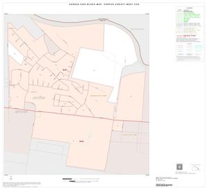 Primary view of object titled '2000 Census County Subdivison Block Map: Corpus Christi West CCD, Texas, Inset A01'.