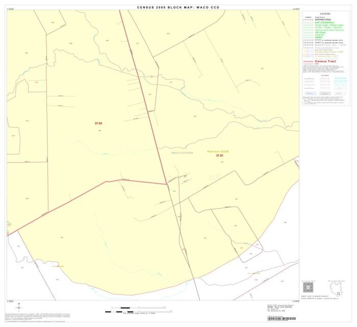 2000 Census County Subdivison Block Map Waco Ccd Texas Block 34