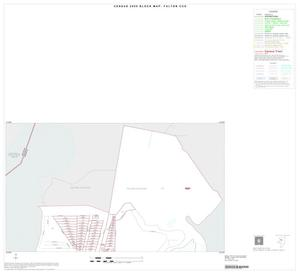 Primary view of object titled '2000 Census County Subdivison Block Map: Fulton CCD, Texas, Inset A01'.
