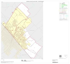 Primary view of object titled '2000 Census County Subdivison Block Map: Yoakum CCD, Texas, Inset A01'.