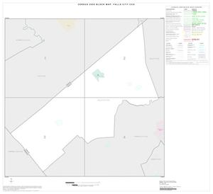 Primary view of object titled '2000 Census County Subdivison Block Map: Falls City CCD, Texas, Index'.