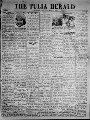 Primary view of object titled 'The Tulia Herald (Tulia, Tex), Vol. 23, No. 13, Ed. 1, Thursday, March 31, 1932'.