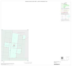 Primary view of object titled '2000 Census County Subdivison Block Map: Justin-Roanoke CCD, Texas, Inset A01'.