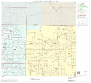 Primary view of object titled '2000 Census County Subdivison Block Map: Northeast CCD, Texas, Block 4'.
