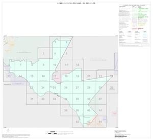 Primary view of object titled '2000 Census County Subdivison Block Map: El Paso CCD, Texas, Index'.