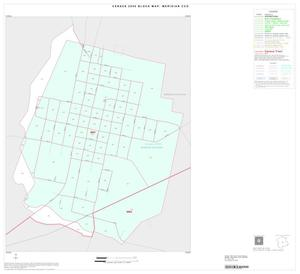 Primary view of object titled '2000 Census County Subdivison Block Map: Meridian CCD, Texas, Inset B01'.