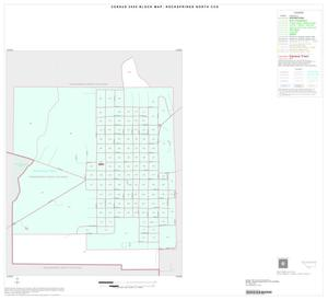 Primary view of object titled '2000 Census County Subdivison Block Map: Rocksprings North CCD, Texas, Inset A01'.